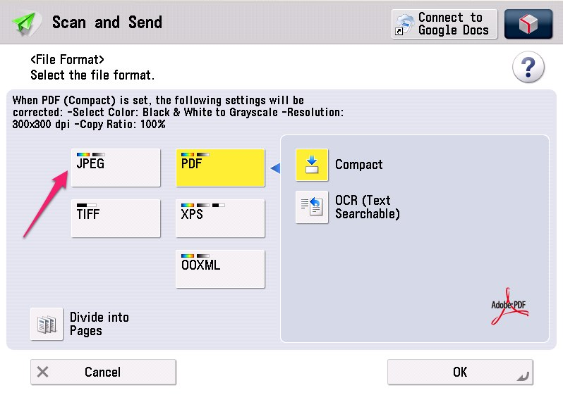 canon 6360 not scanning to pdf