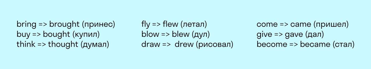 Объединение глаголов по звучанию