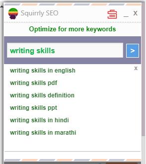 Squirrly SEO keywords check