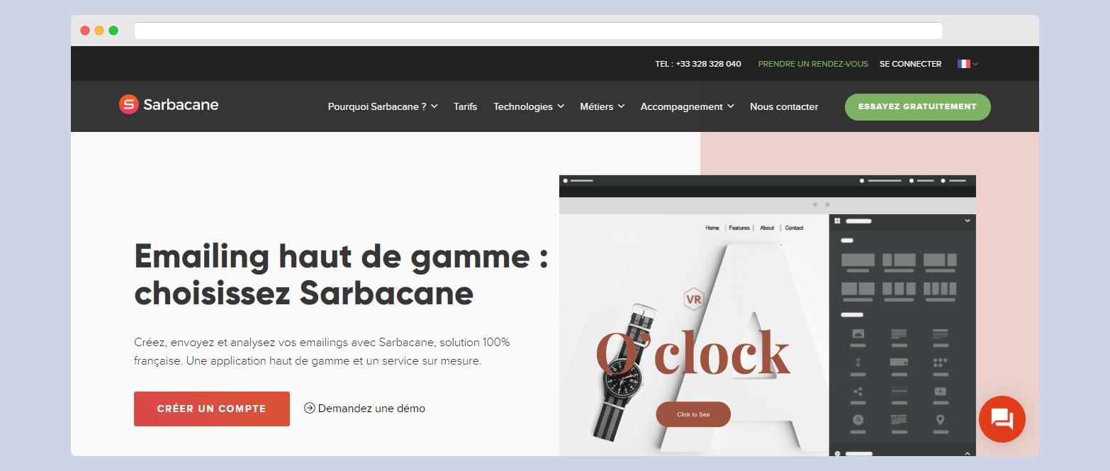 Sarbacane logiciel newsletter