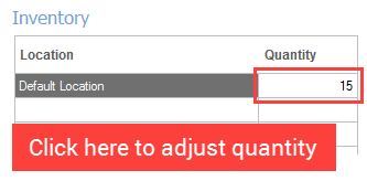 Adjust quantity in product screen