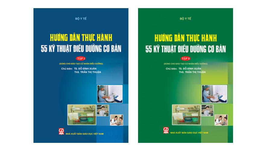 Bìa sách hướng dẫn thực hành 55 kỹ thuật điều dưỡng cơ bản