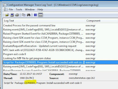 Sccm software distribution client log