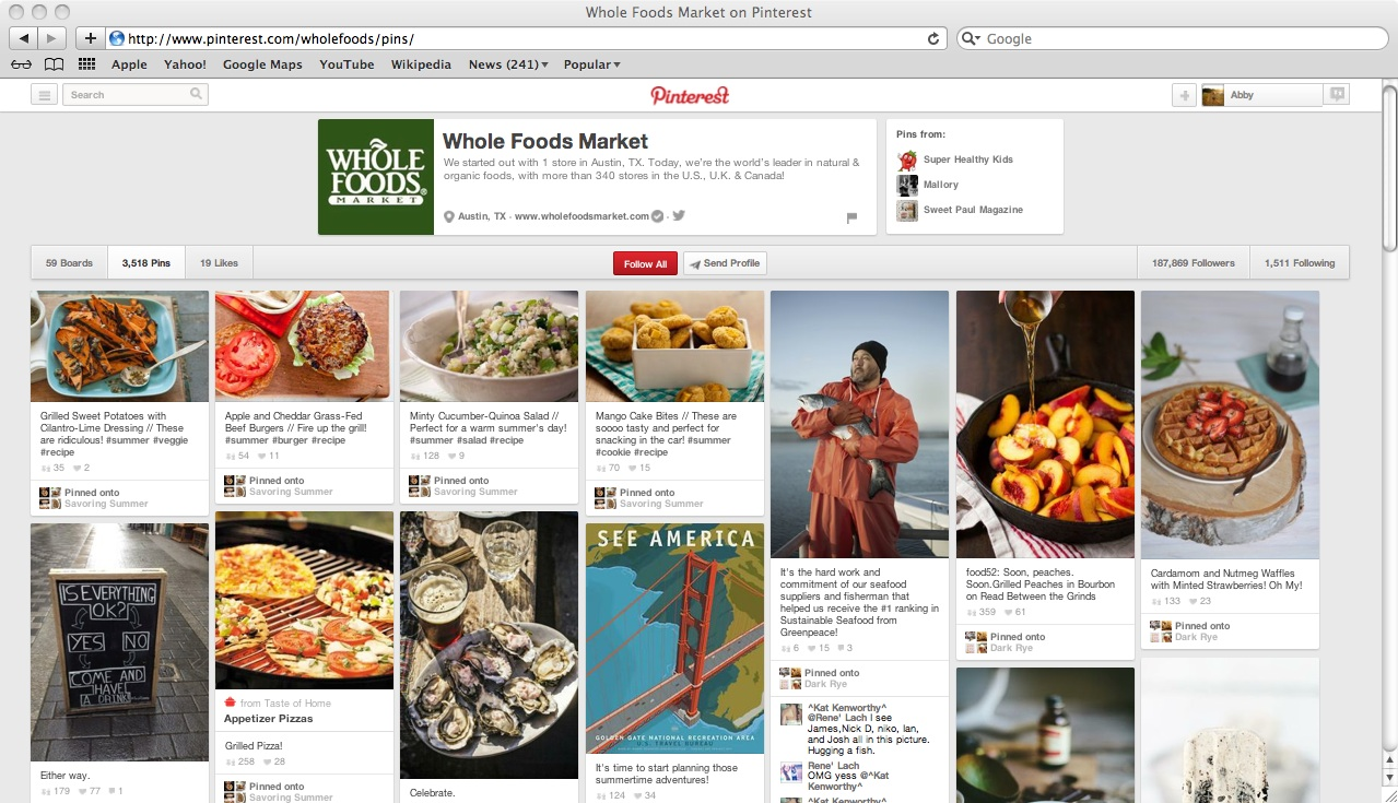 Company Pinterest Example