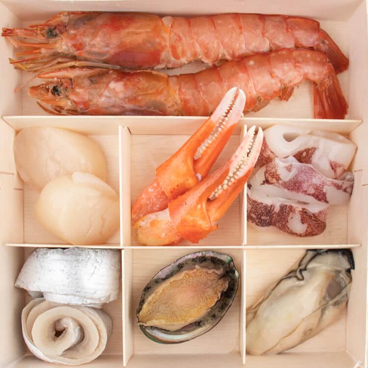 【日常特撰•海鮮木盒 × 4 盒】〔獨家招牌〕日常特撰•海鮮木盒 介紹如下