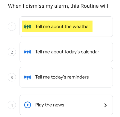 google assistant routine