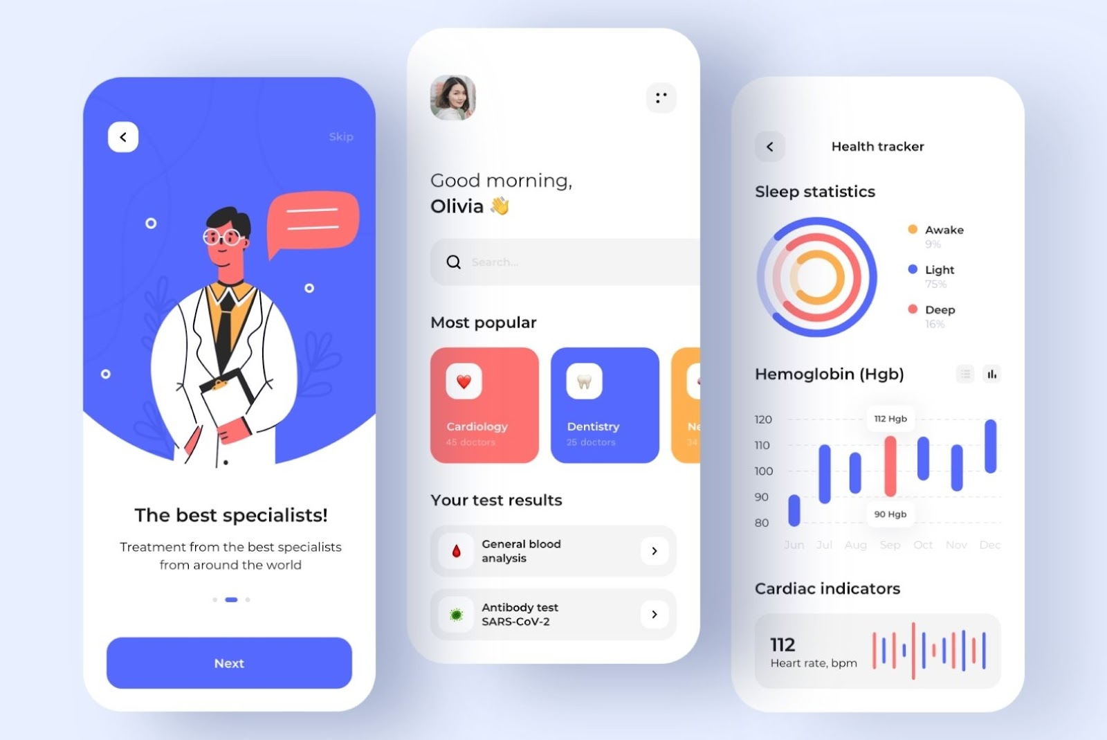 Healthcare mobile app for patient