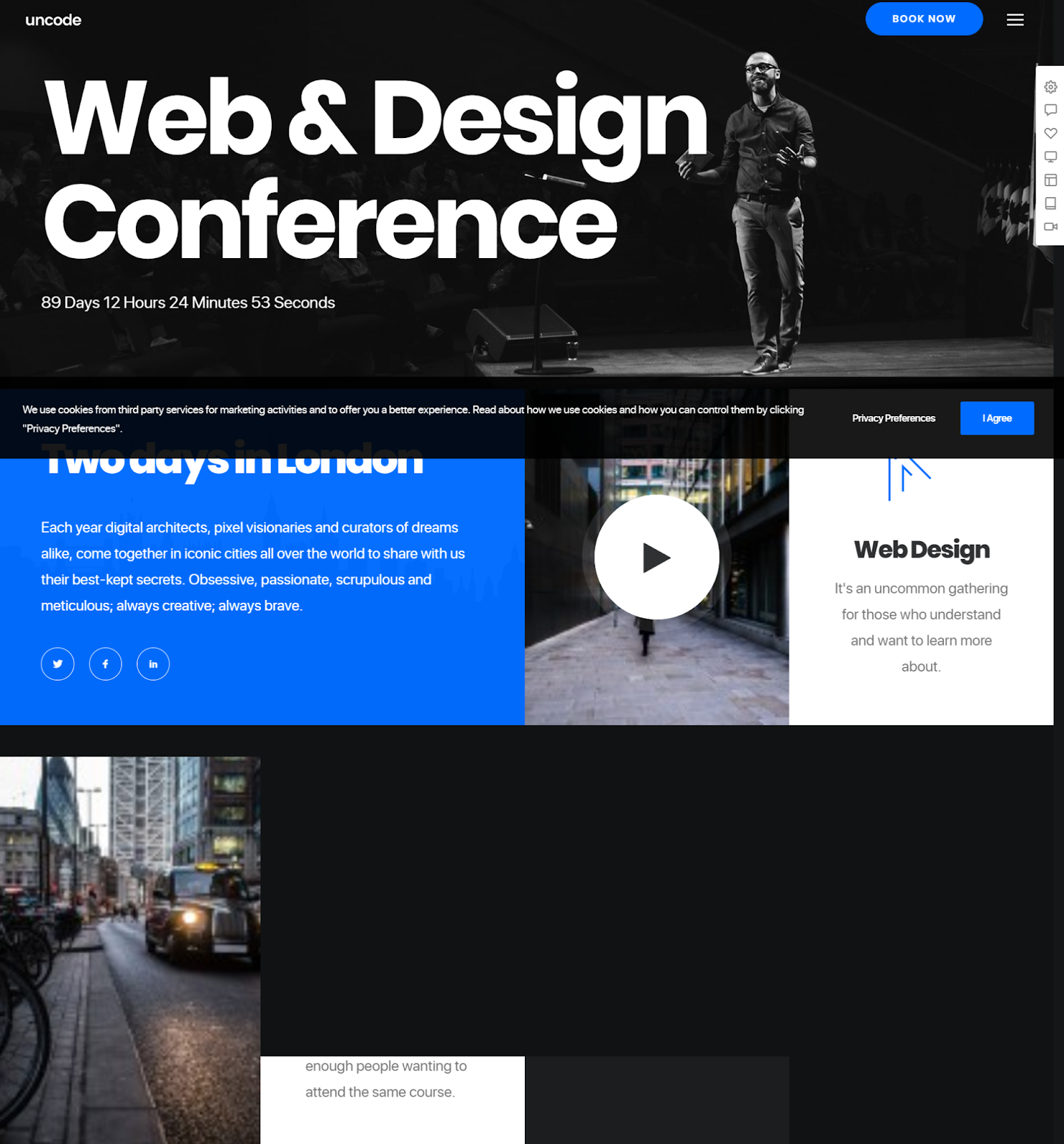 Uncode Wordpress conference theme