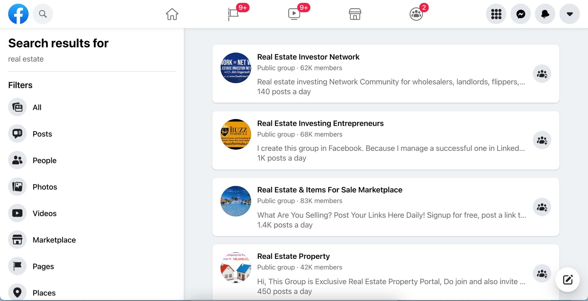 real estate facebook group