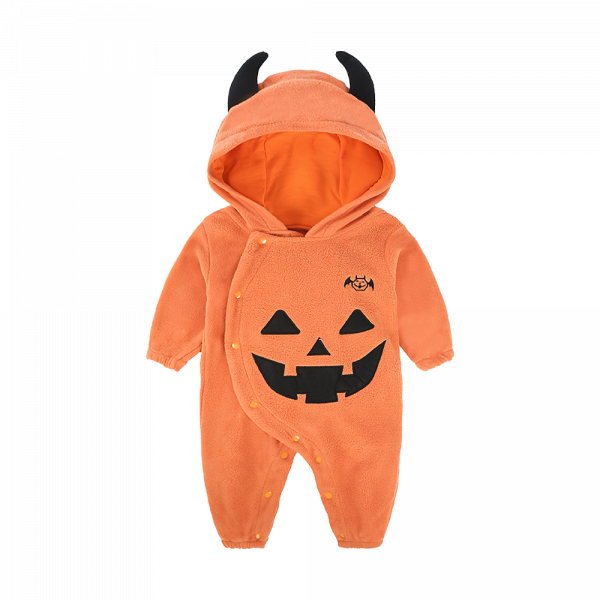 Baby Pumpkin Devil Hooded One-Piece Costume