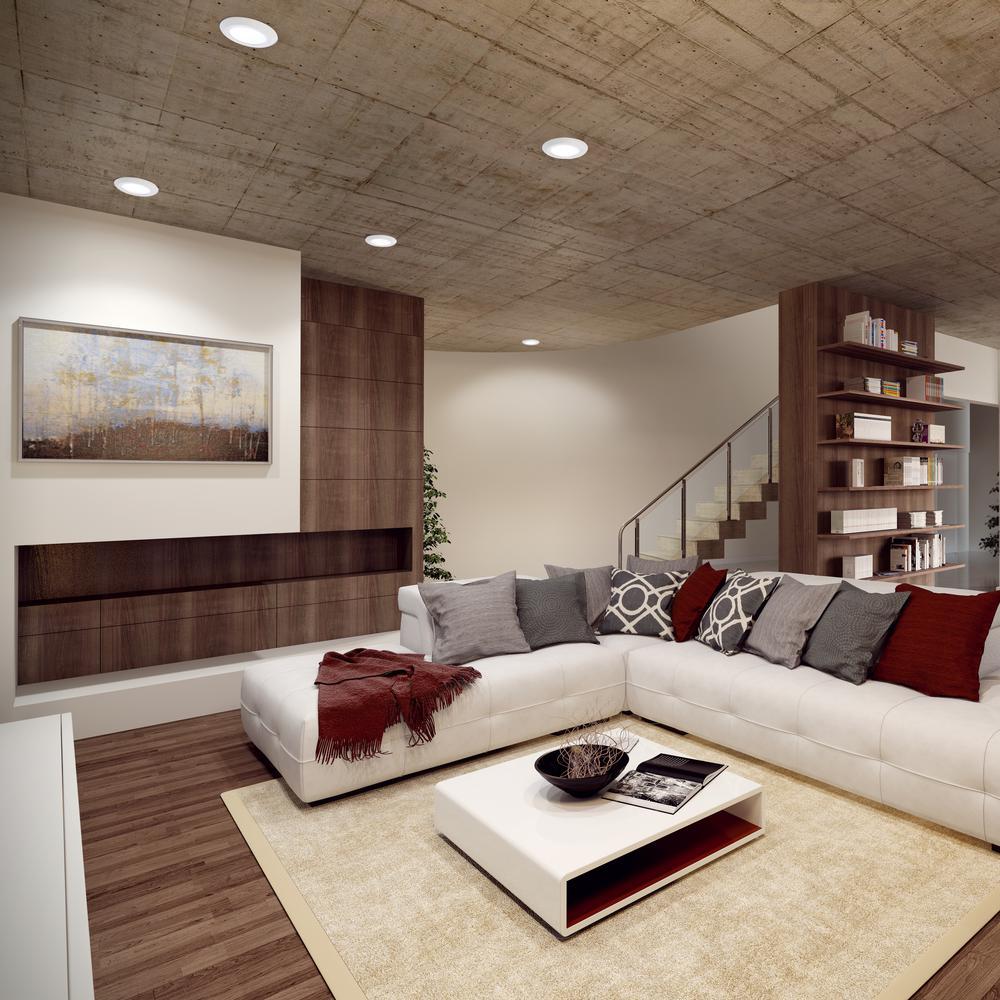 Inspirasi ruang tamu dengan recessed lighting - source: homedepot.com