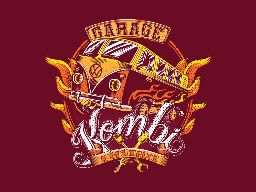 Garage Kombi Food Truck Logo