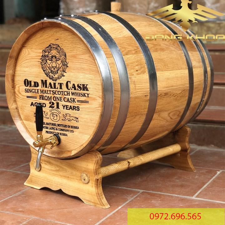 Rượu ngâm trong thùng gỗ sồi rất thơm và đặc trưng