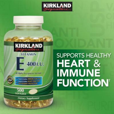 Kirkland Vitamin E 400 IU - Viên uống bổ sung Vitamin E của Mỹ