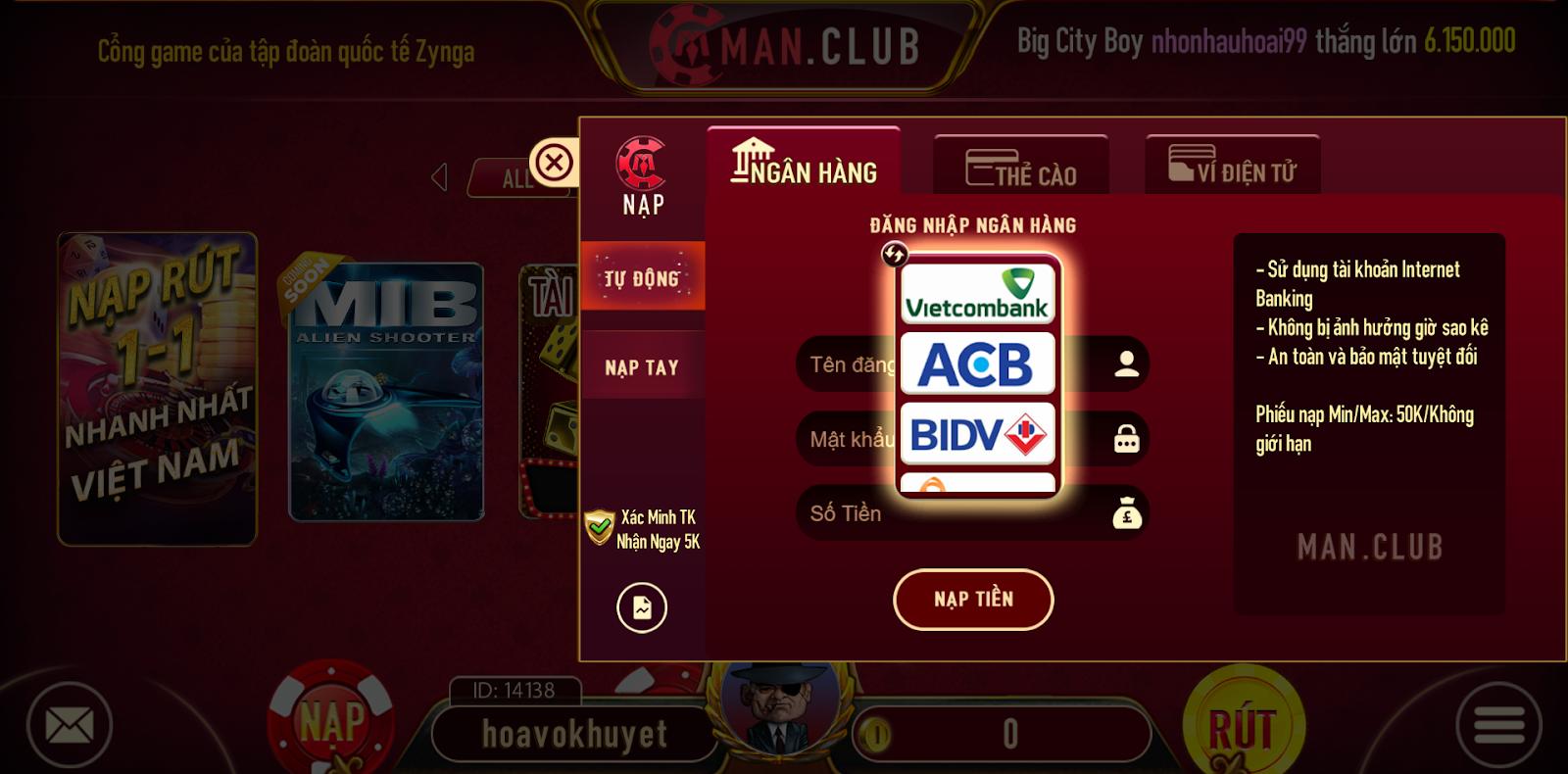 Man Club - Game bài phái mạnh 4