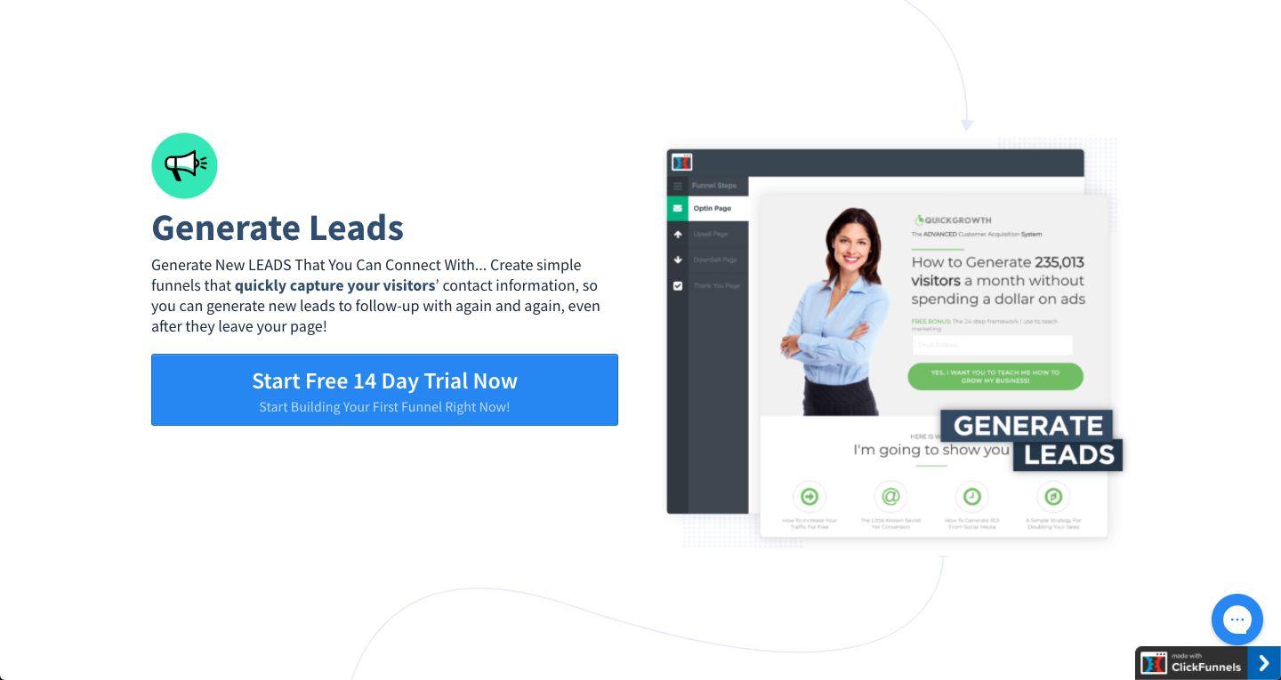 ClickFunnels: Generate Leads