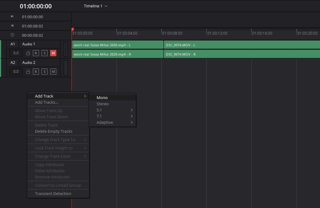record a voice-over in DaVinci Resolve