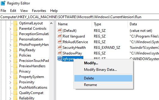HK Local Machine\Software\Microsoft\Windows\CurrentVersion\Run
