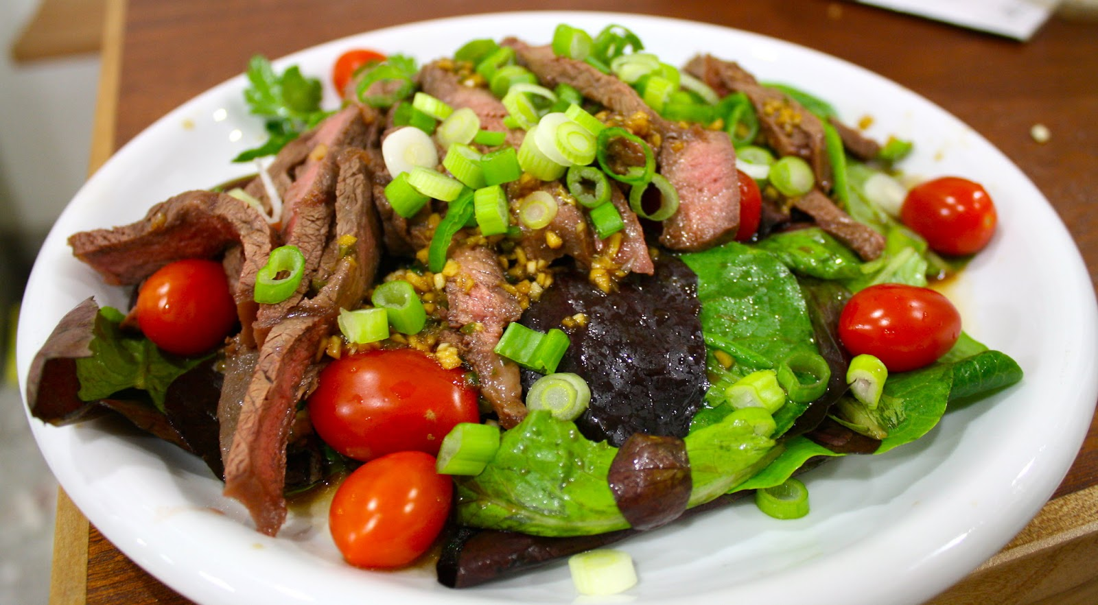Steak Salad represents proper nutrition through meat, fruit and vegetables for optimal health to increase fertility.