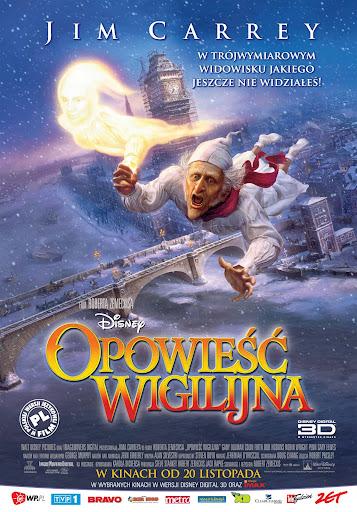 Polski plakat filmu 'Opowieść Wigilijna'