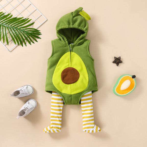 Cute Baby Avocado Costume Sleeveless Romper