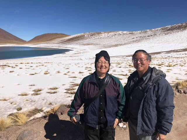 Serendipitous meet up with other OCA David and Jean in the Chilean Atacama Desert