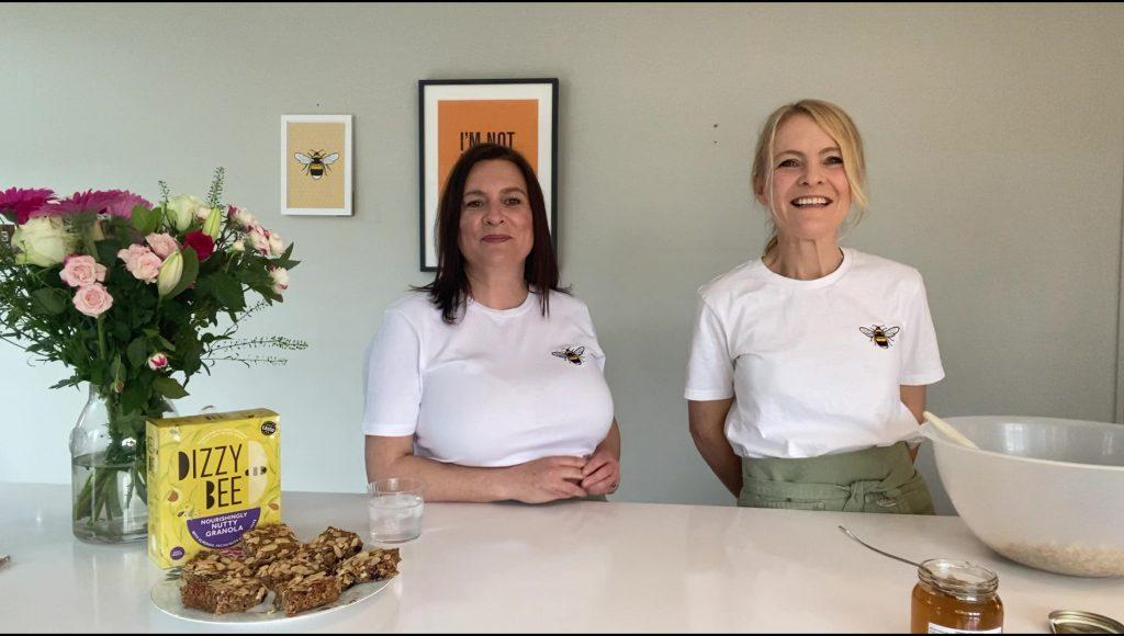 Katie Carr of tommy and lottie and Nicky Halloran of Dizzy Bee Kitchen -world bee day