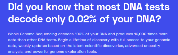 Most DNA tests only decode 0.02% of your DNA