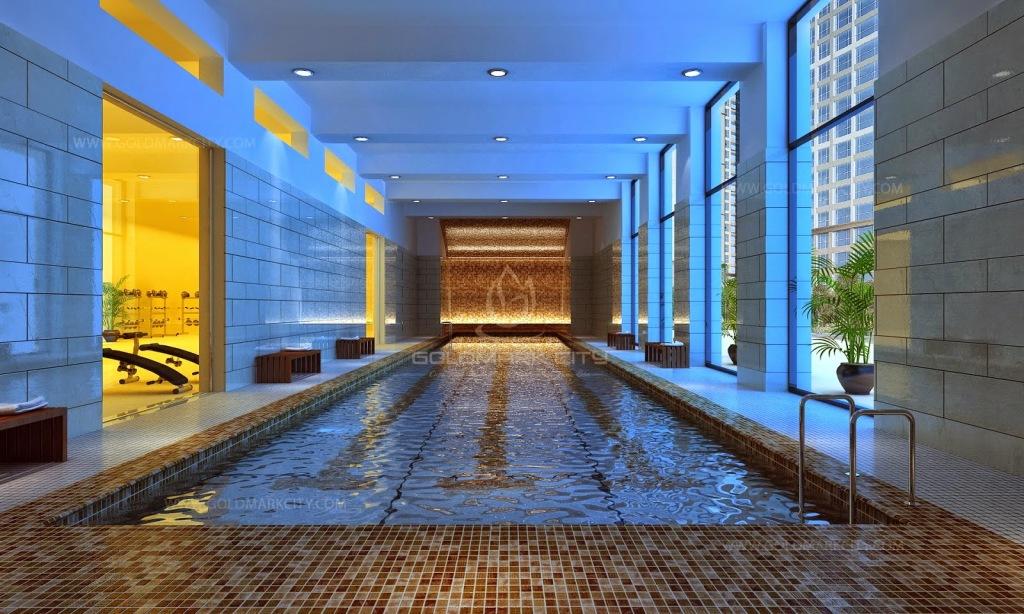Khu bể bơi trong nhà tại Goldmark City