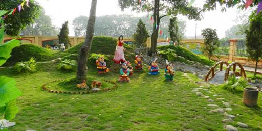 Thiết kế thi công sân vườn cổ tích trường mầm non đẹp - dq89group