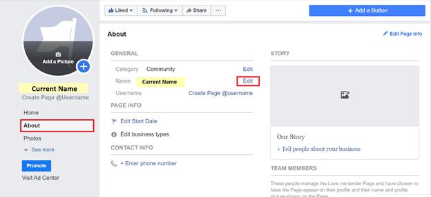 Hướng dẫn đổi tên trang Facebook cho doanh nghiệp
