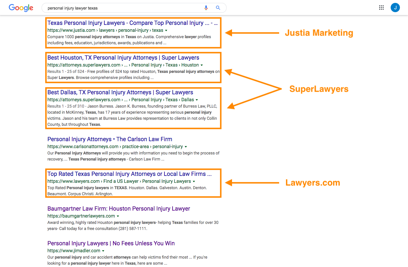 SEO for law firms.