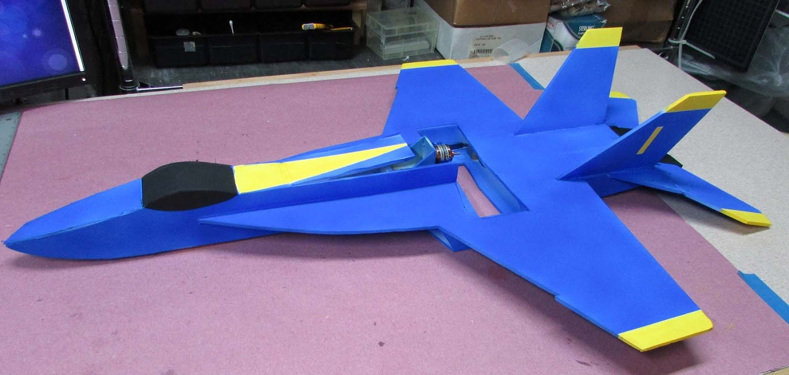 Build F 18 Super Hornet In Ft Style Flite Test F18 Jet Engine Diagram V2 Statistics Bigger Motor Esc Battery Material 2 Sheets Ross Foam Core Walmart Weight 308g After Paint 1300 Mah 40c114g