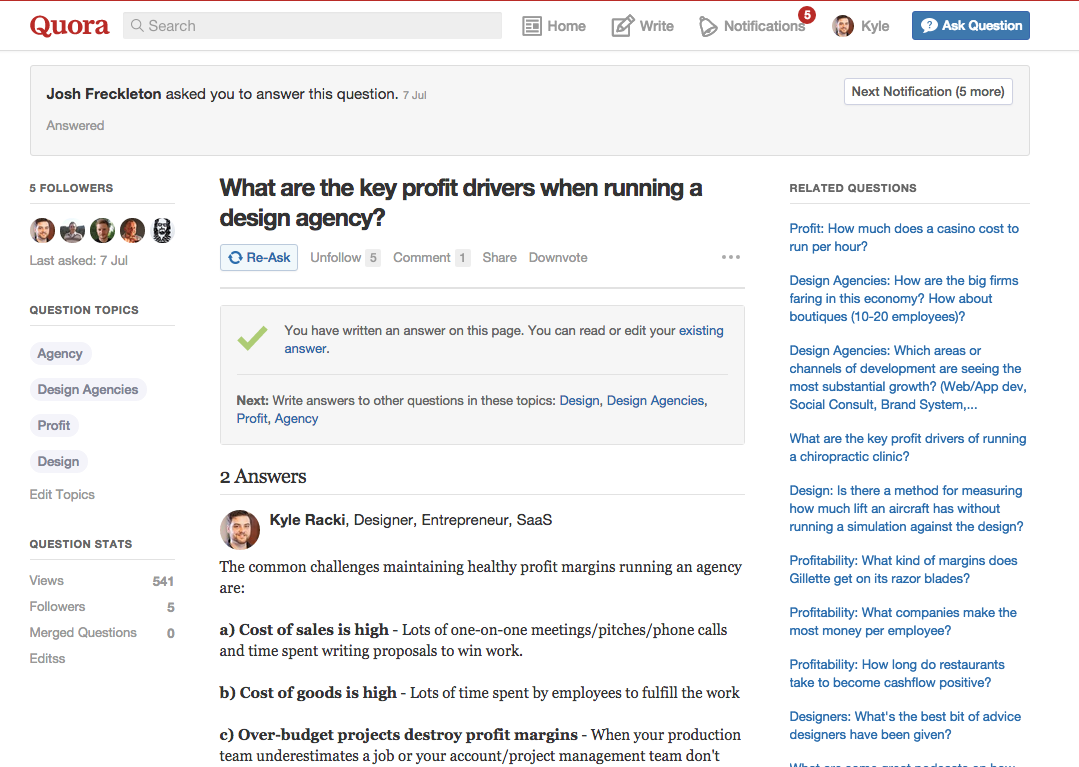 generating leads from quora