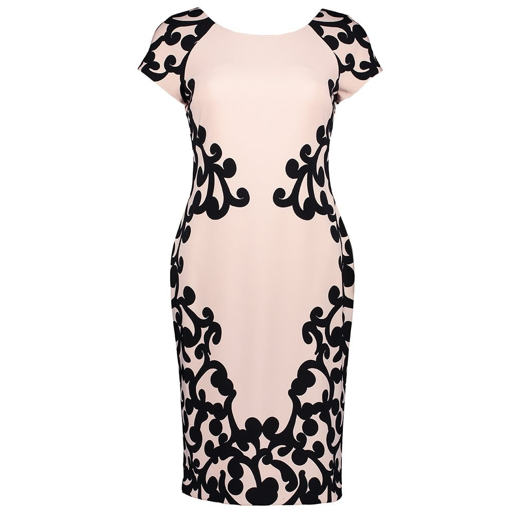 JOSEPH RIBKOFF Jacquard Print Dress