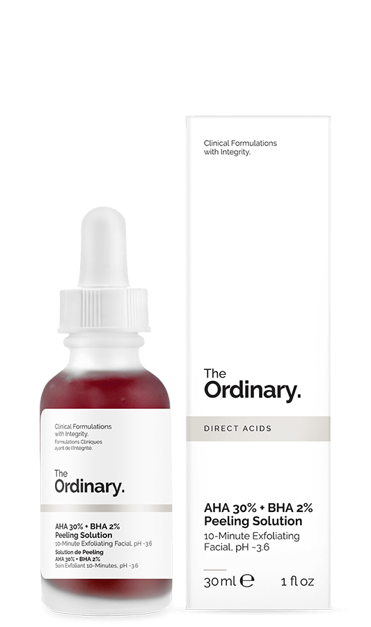 The Ordinary AHA BHA solution for Textured Skin exfoliation Treatment