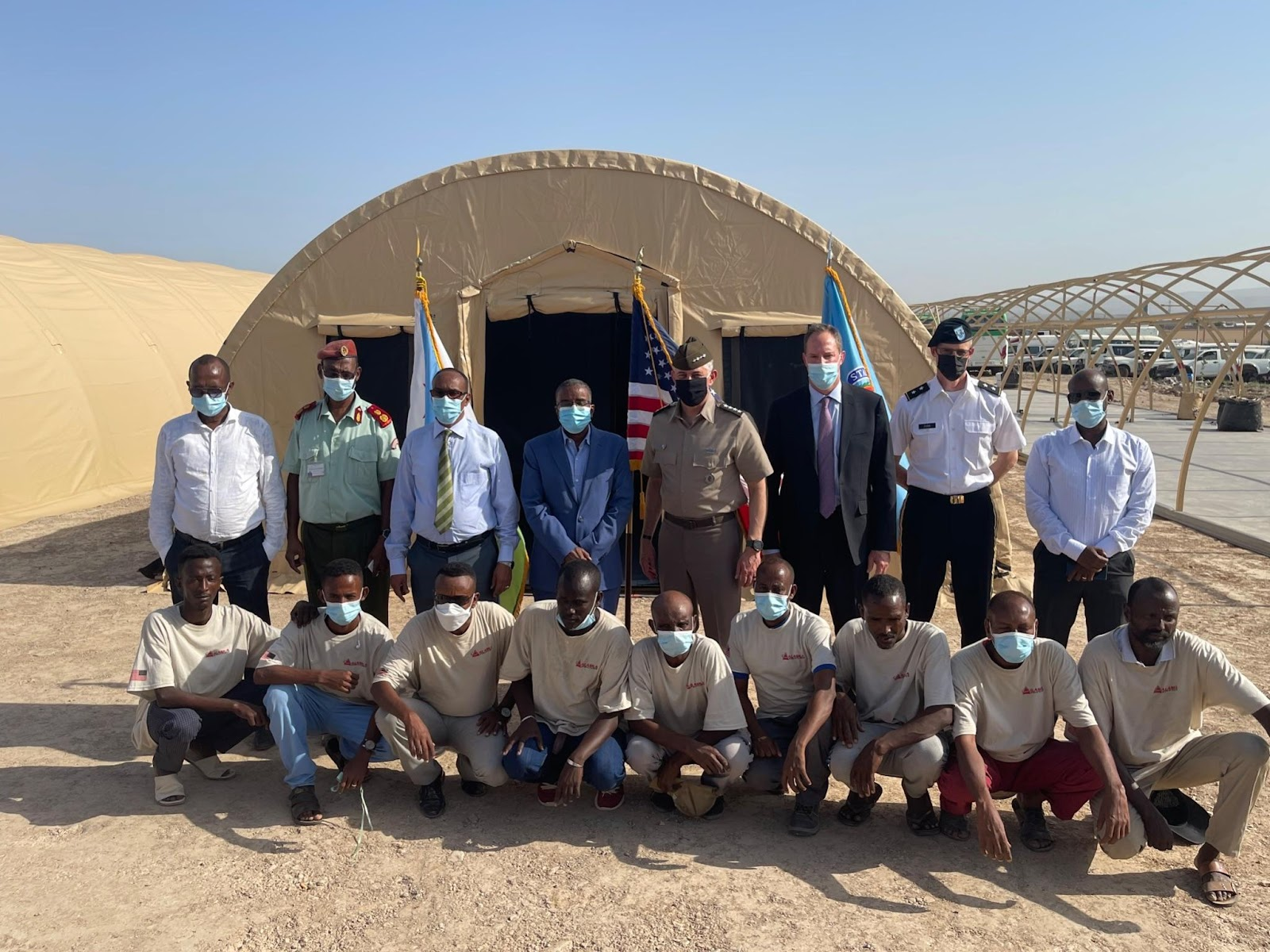 Mobile field hospital from Alaska Structures donated to Djibouti.