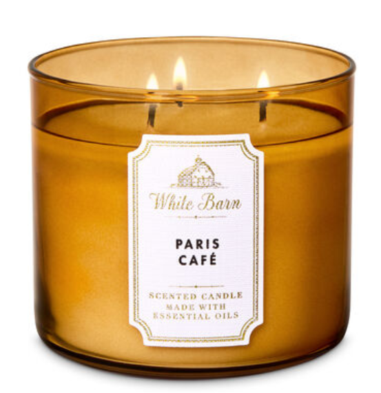 white barn paris cafe candle work from home gift idea
