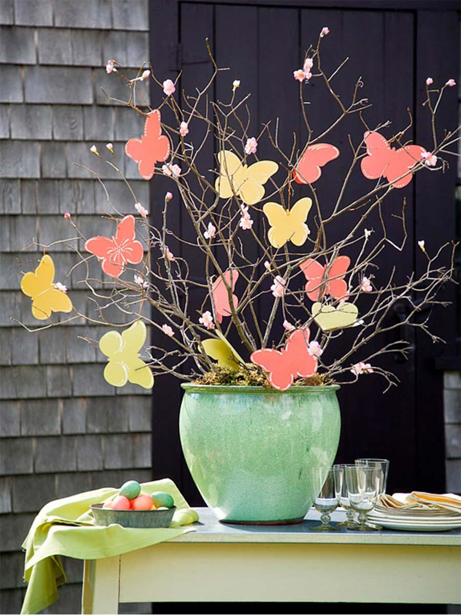 motýli květináč