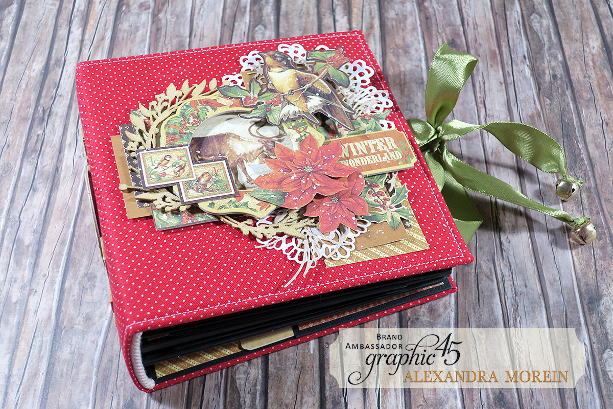 Winter Wonderland Mini Album, Project by Alexandra Morein, Product by Graphic 45, Photo 1.jpg