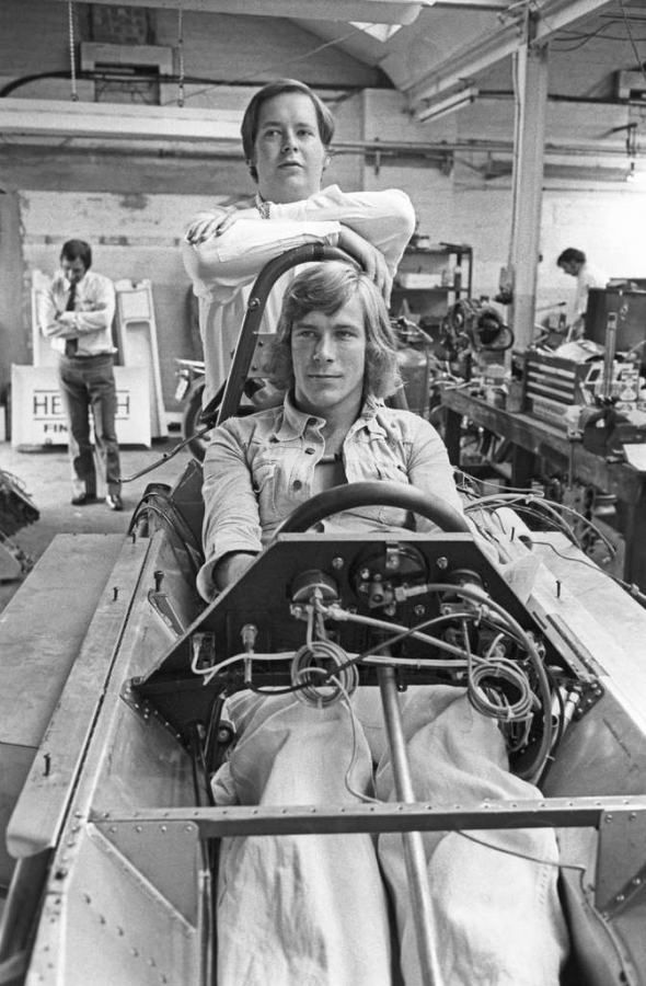 James with Lord Alexander Hesketh during his time at Hesketh Racing. Credit: unknown
