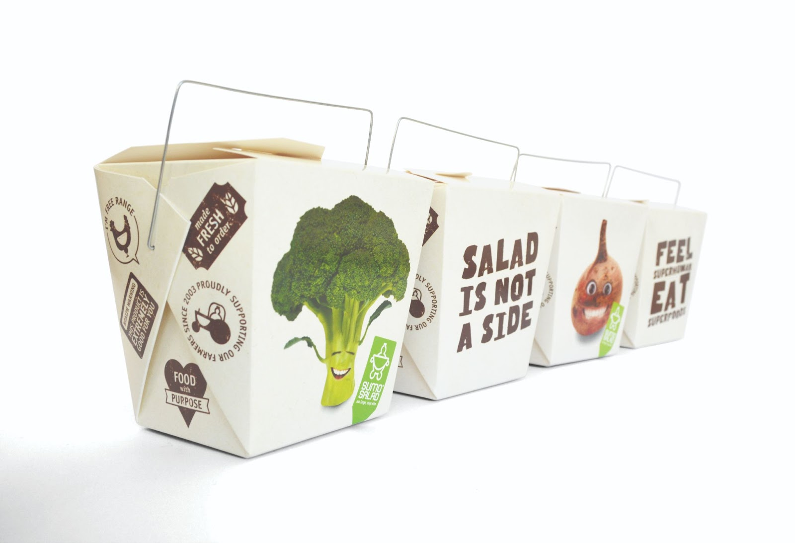 We designed packaging stamps and badges to further reinforce the key brand messages on the box