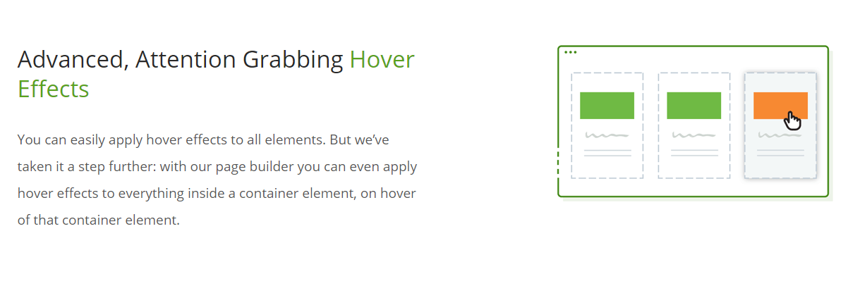 Attention grabbing hover effect