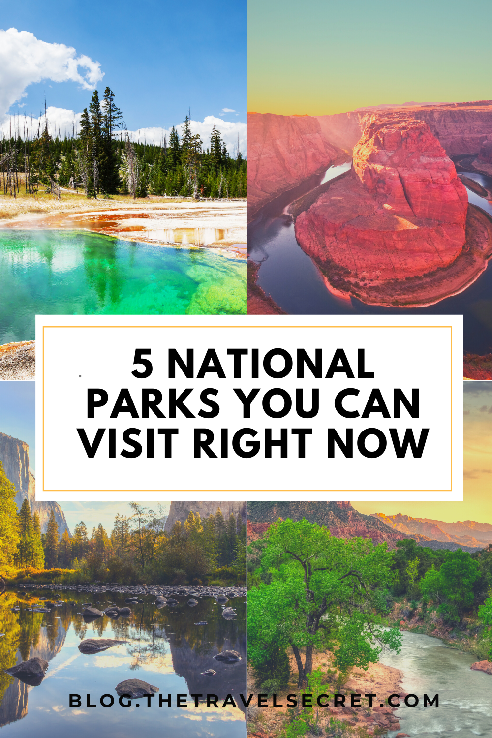 5 National Parks you can visit right now