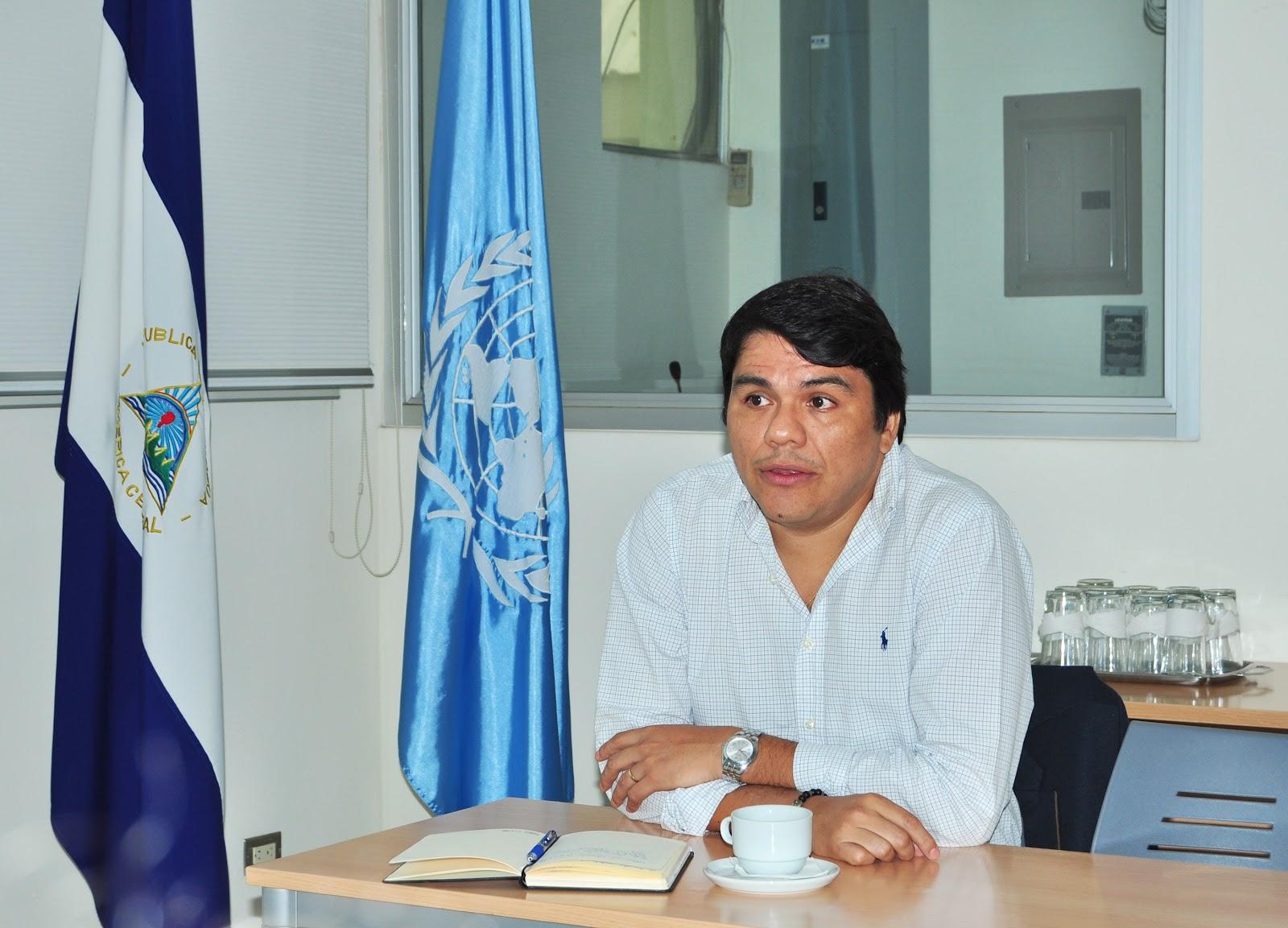 Sr. Víctor Valdivieso, Representante Auxiliar de UNFPA Nicaragua