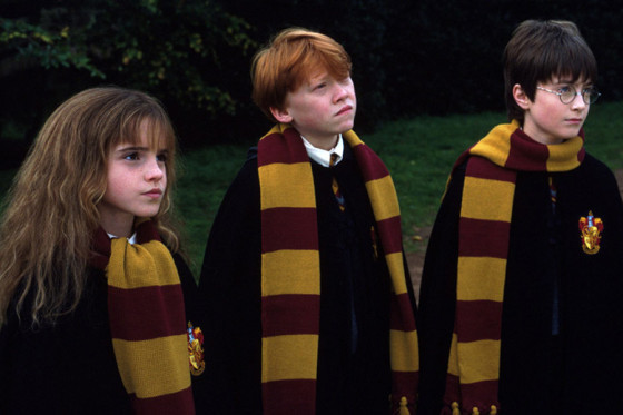 Harry, Ron and Hermione as firstyears