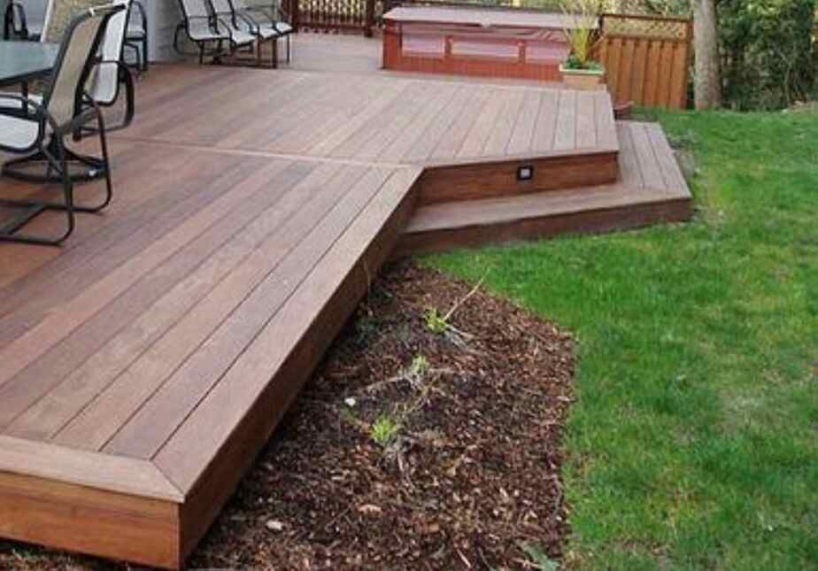 build a decking with composite material