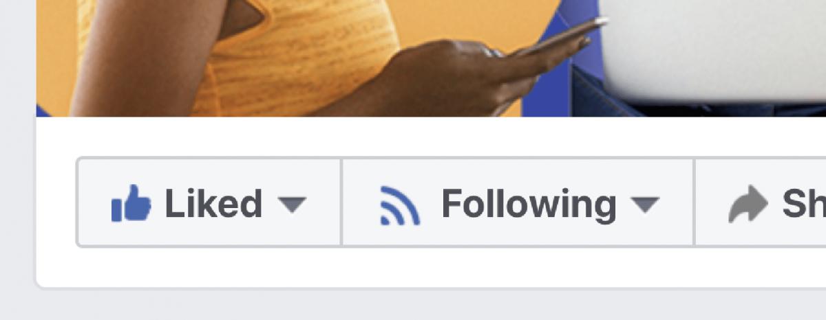 Các nút Thích / Theo dõi trên Facebook