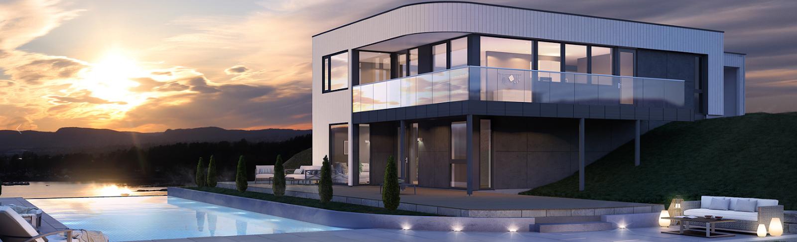Vakkert moderne bolig med basseng, byggmester bergen, bygg moderne bolig med de beste byggmesterene i Bergen