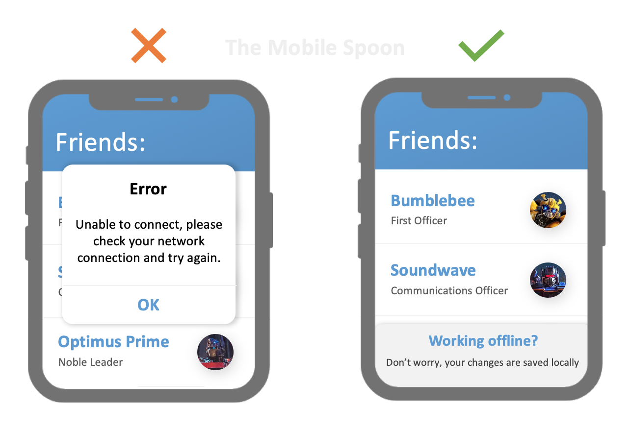 Designing for mobile - The best of the mobile spoon - UI Design and UX Writing